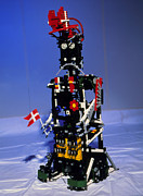 Lego Photo Prints - Lego Humanoid Robot Known As Elektra Print by Volker Steger