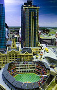 Baseball Art Print Photos - Legoland Dallas I by Ricky Barnard