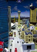 Legoland Dallas Iv Print by Ricky Barnard