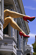 Funny Shoe Prints - Legs Haight Ashbury Print by Garry Gay