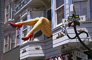 Funny Prints - Legs in window SF Print by Garry Gay