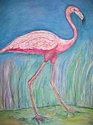 Flamingo Paintings - Legs by Marlene Robbins