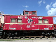 Ties Art - Lehigh Valley Caboose by Terrilee Walton-Smith