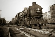 Beer Photos - Lehigh Valley Steam Locomotive 431 at Wilkes Barre PA. 1940s by Arthur Miller