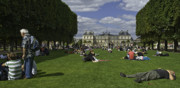 Luxembourg Gardens Prints - Leisure at Luxembourg Gardens Print by Garry Appel