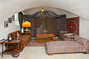 Oriental Rug Prints - Leisure Room With Colorful Furniture and Curtains Print by Jaak Nilson
