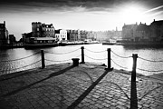 Port Town Framed Prints - Leith Shore Edinburgh Framed Print by Dorit Fuhg