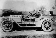 Race Drivers Photos - Leland in the Stearns 1900s by Padre Art