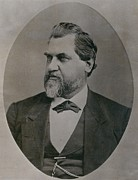 Leland Stanford 1824-1893 Was Drawn Print by Everett