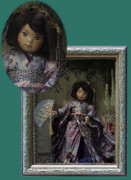 Purple Ceramics - Lele Shadow Box Frame by Shirley Heyn