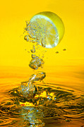 Lemon Acrylic Prints - Lemon and bubbles Acrylic Print by Travel Images Worldwide