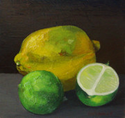 Scottish Art Originals - Lemon and Limes by Peter Allan