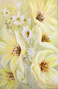 Cut Flowers Paintings - Lemon Chiffon by Joanne Smoley