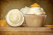Lemon Art Photo Posters - Lemon Cupcakes Feast Poster by Sophie Vigneault