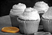 Selective Coloring Art Prints - Lemon Cupcakes with a Twist Print by Sophie Vigneault