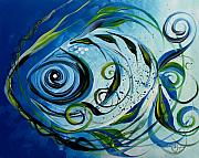 Scarpace Prints - Lemon Fish Only Blue Print by J Vincent Scarpace