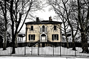 Snow Digital Art - Lemon Hill Mansion - Philadelphia by Bill Cannon