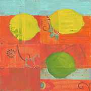 Fruits Painting Prints - Lemon-lime Print by Laurie Breen