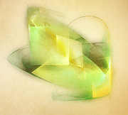 Bright Digital Art - Lemon Lime by Scott Norris