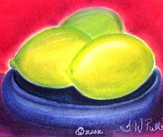 Salad Pastels Prints - Lemon Limes Print by Terri Walker Pullen