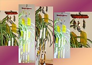Healing Art Glass Art - Lemon Meringue Feng Shui Glass Crystal Wind Chime by Karen Martel