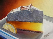 Pie Paintings - Lemon meringue pie - 2 by Yulia Litvinova