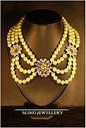 Soldered Jewelry - Lemon Pearl and Crystal Necklace by Janine Antulov