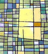 Grid Paintings - Lemon Squeeze by Douglas Simonson