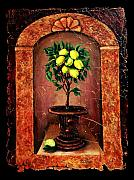 Mosaic Mixed Media - Lemon Tree by OLena Art