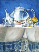 Teapot Paintings - Lemon With Your Tea by Jane Loveall