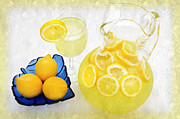 Cool Mixed Media Prints - Lemonade And Summertime Print by Andee Photography