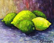 Lemons And Limes Print by Kamil Swiatek