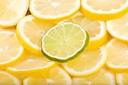 Sliced Prints - Lemons and One Lime Abstract Print by James Bo Insogna