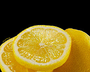 Lemons Metal Prints - Lemons Metal Print by Cheryl Young