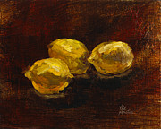 Vic Mastis Originals - Lemons for Everyone with Gold Leaf by Vic Mastis by Vic  Mastis