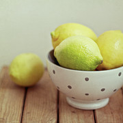 Medium Group Of Objects Posters - Lemons In Bowl Poster by Copyright Anna Nemoy(Xaomena)
