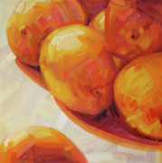 Tangerine Framed Prints - Lemons in Natural Light III Framed Print by Penelope Moore