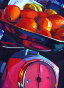 Wine Canvas Paintings - Lemons on Scale by Penelope Moore