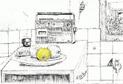 Lemon Drawings - Lemons by Rod De Hoedt