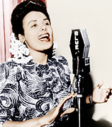 Microphone Stand Prints - Lena Horne, Ca. 1943 Print by Everett