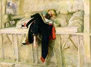 Grave Posters - LEnfant du Regiment Poster by Sir John Everett Millais