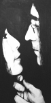 Portraits Tapestries Textiles Metal Prints - Lennon and Yoko Metal Print by Ashley Price