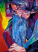 John Lennon Painting Originals - Lennon In Repose by David Lloyd Glover