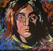 Pop Icon Paintings - Lennon by Jean Alexander