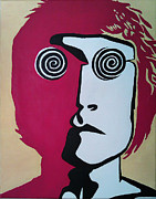 Music Drawings Framed Prints - Lennon Framed Print by Kenny Cannon