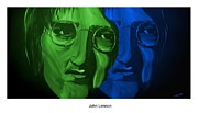Silver Moonlight Posters - Lennon Poster by Mark Moore
