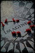 Lennon Memorial Print by Chris Lord