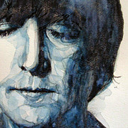 Beatles Painting Posters - Lennon Poster by Paul Lovering