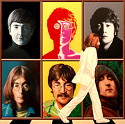 Lennon Portrait Posters - Lennon to the 7th Power Poster by Ross Edwards
