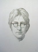 Singer Painting Framed Prints - Lennon  Framed Print by Trevor Neal
